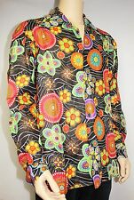Mens Vtg 70s Style Funky Floral Psychedelic Crazy Prince Cosby Festival Shirt