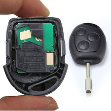 3 BUTTON REMOTE ENTRY KEY FOB FOR FORD MONDEO FIESTA FOCUS KA TRANSIT BLACK