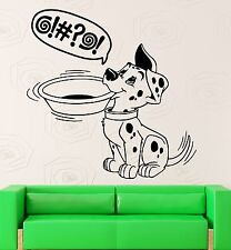 Puppy Wall Stickers Funny Dalmatian Dog Animal for Kitchen Vinyl Decal (ig1480)