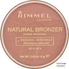 RIMMEL LONDON NATURAL BRONZER PRESSED POWDER 025 SUN GLOW NEW FULL SIZE 14G