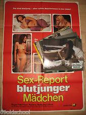 Sex-Report blutjunger Mädchen-12 Aushangfotos + Kinoplakat A1 Frank Roberts
