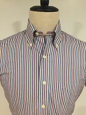 Brooks Brothers Men's 'Slim Fit' Button Down Shirt Short Sleeve Stripes Size S