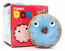 Kidrobot Yummy Donuts Series MISTER BLUE - FROSTED RING DONUT 1/25 Keychain