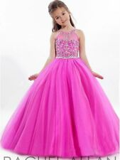 Tulle Flower Girl Kids Pageant Ball Gown Princess Party Prom Birthday Dress