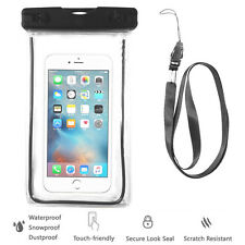 Black Waterproof Case Cell Phone Dry Bag+Lanyard f/ iPhone 7 & all Smart Phones