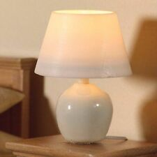 1/12TH SCALE DOLLS HOUSE TABLE LAMP WITH WHITE CERAMIC BASE