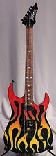 "BC B.C. RICH BODY ART COLLECTION ASSASSIN MODEL GUITAR ""TORCHY"" Cool Flames!"