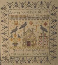 AWAY WE RIDE BLACKBIRD DESIGNS CROSS STITCH SAMPLER CHART