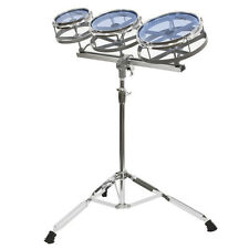 "Kalos Roto Tom Set ~ 6"", 8"" and 10"" with Height Adjustable Double Braced Stand"