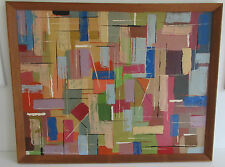 Abstract Oil Painting Circa 1970s  Modern British   Vintage  Retro
