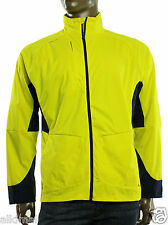NEW MENS RALPH LAUREN RLX GOLF FULL ZIP YELLOW NAVY WATER REPELLENT JACKET XL