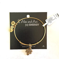 Alex and Ani NWT Endless Knot Bangle Russian Gold with card in white gift box