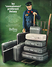 PUBLICITE ADVERTISING 035  1971  DELSEY   valises bagages AIRSTYLE