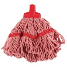"""SYR Mini Mop Head Red Cleaning Supplies Equipment Mopping Kitchen 14"""" Cartering"""