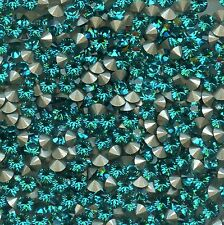 1028/SS18/Z***25 strass Swarovski 4,3mm BLUE ZIRCON F*******x25