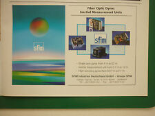 11/1998 PUB SFIM FIBER OPTICS GYROS INERTIAL MEASUREMENT UNITS ORIGINAL ADVERT