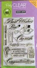 "Hero Arts Poly Clear Stamps ""Best Wishes"" Wedding 4x6 *New*"
