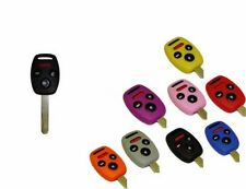 Honda 4 button Key Fob Cover Jacket Silicon Black Pink Red Purple Blue Red