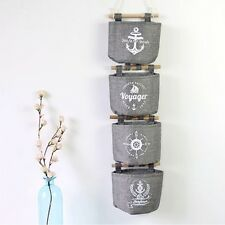 Retro Cotton Wall Hanging Storage Pocket Home Organizer Bag Hanger Bag