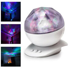 12LED Romantic Aurora Star Color Change Lamp Projector Night Light w/ Speaker