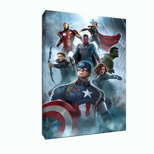 AGE OF ULTRON THE AVENGERS CANVAS ART PRINT WOODEN FRAME 18 MM 12 X 8 INCHES A4