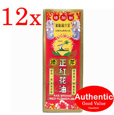 12X Singapore Axe Brand Red Flower Oil - 35ml for aches, strains and pain (New!)