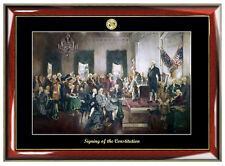 Signing of the Constitution Mural Painting Poster Frame Christy Print Lawyer Law