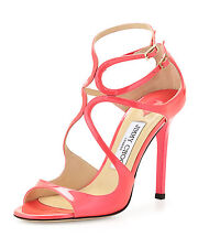 New Jimmy Choo Lang Patent Leather Sandals Original:795.00 Size - 39.5