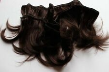 Human Hair Rooting Reborn Babies Toddlers Brown Straight  NOT Mohair