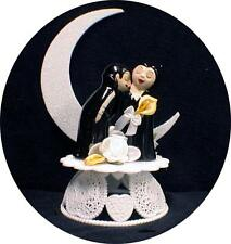 VAMPIRE Darcula Transylvanis Halloween Wedding Cake topper funny Groom top bride