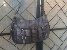 COACH 12654 LEATHER LEGACY SHOULDER BAG BRONZE BRASS HARDWARE PURSE excellent