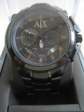 ARMANI EXCHANGE MENS WATCH AX1116 CHRONONOGRAPH BLACK DIAL BNWT GENUINE