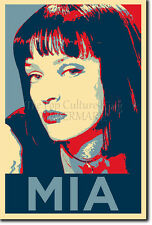 MIA WALLACE PHOTO PRINT POSTER GIFT (OBAMA HOPE STYLE) UMA THURMAN PULP FICTION