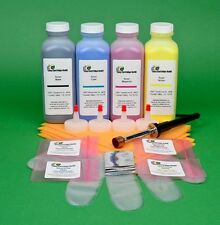 HP CP 3525 CM 3530 CE250A CE250X 4 Color Toner Refill Kit with HM tool & Chips