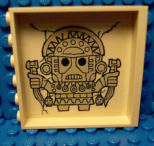 LEGO LEGOS  -  Panel Brick Wall 1 x 6 x 5 with Aztec Head Pattern on Inside TAN