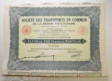 Action ancienne: Sté des transports en commun de Toulouse F.Pons ( 699 )