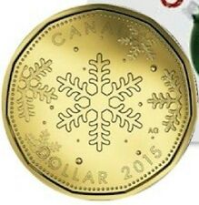 2015 Holiday Christmas Snowflake '15 RCM Limited Loonie Canada 1 One Dollar Coin