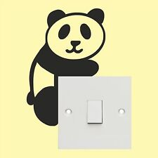 Panda _Light Switch_ Wall Art _Funny Decal Vinyl Sticker