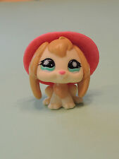 #864 Lapin Belier cream Rabbit Bunny with Hat LPS Littlest Pet Shop Figurine