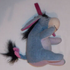 "Disney Winnie The Pooh sitting Eeyore  with hanging loop Soft Toy 6"" high"