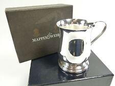 """MAPPIN & WEBB Silver Plate - Christening Tankard - Pot Bellied - 3 1/4"""""""