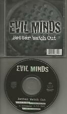 EVIL MINDS w/ HOMIE LOC Better Watch out MIX & INSTRUMENTAL & ACAPELLA CD Single