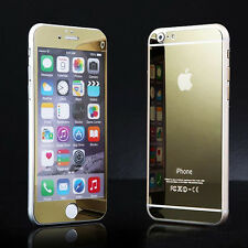 Front+Back Gold Mirror Tempered Glass Protector-iphone 6S Plus/6 plus