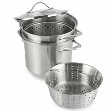 CALPHALON Contemporary Stainless 8-Q Multi Pot with Glass Lid and Insert