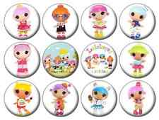 """LALALOOPSIES LITTLES - Lot of 12 - Pin Back - 1"""" Buttons Badges (One Inch)"""