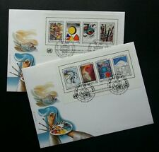 United Nation 40th Anniversary 1986 Painting Drawing Art Horse (FDC pair)