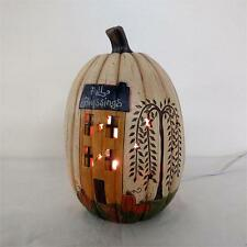 SALE / Country new FALL BLESSINGS lighted pumpkin / nice fall decor
