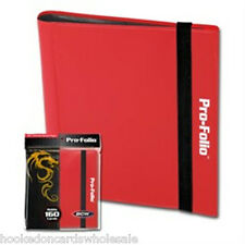 BCW MTG Red Pro-Folio Binder Album 4 Pocket Side Load holds 160 Cards