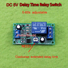 DC 5V 0-60 Second Adjustable Delay Time Turn off Switch NE555 Timer Relay Module