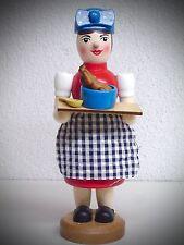 Fumador Mujer de fumar con Pollo a la Parrilla Figura humeante 18 cm 40436
